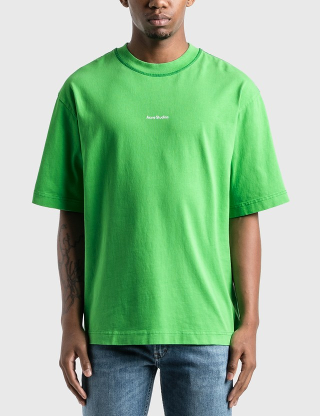 Acne Studios Reverse Logo T-Shirt Bright Green Men