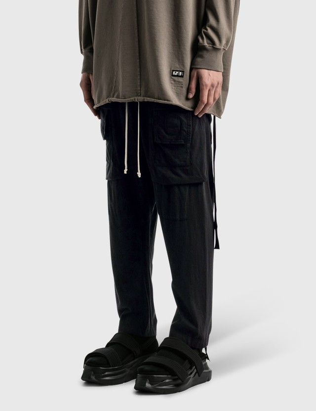 Rick Owens Drkshdw Creatch Cropped Drawstring Cargo Pants