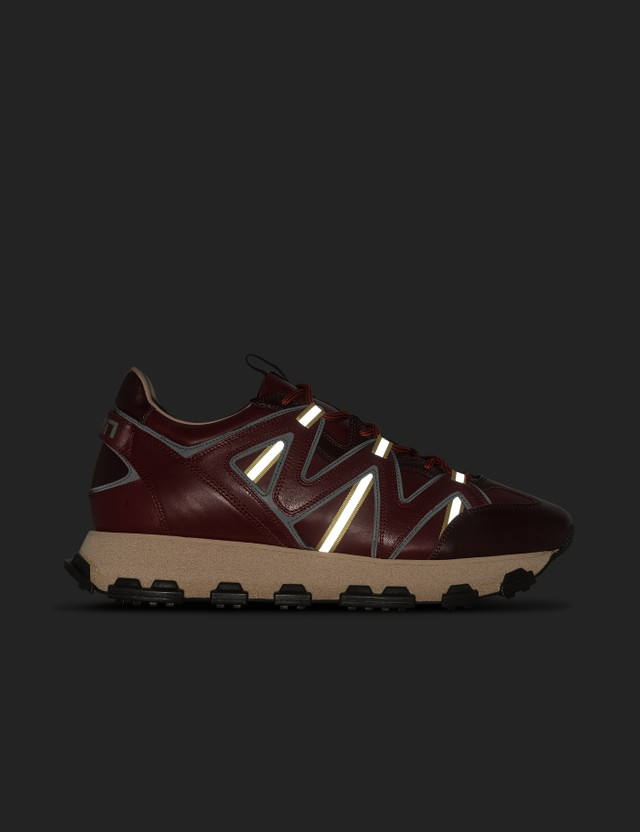Lanvin Lightning Sneaker Burgundy Black Men