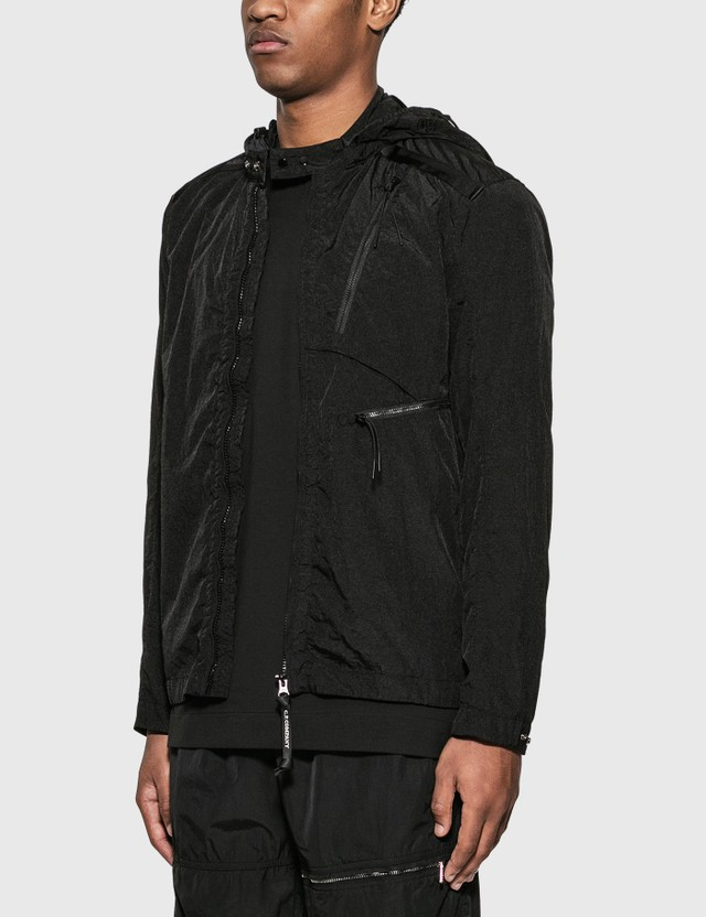 CP Company Nylon Shirt Jacket with Goggle Hood Black Men