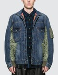 Sacai MA-1 Denim Patchwork Jacket Picutre