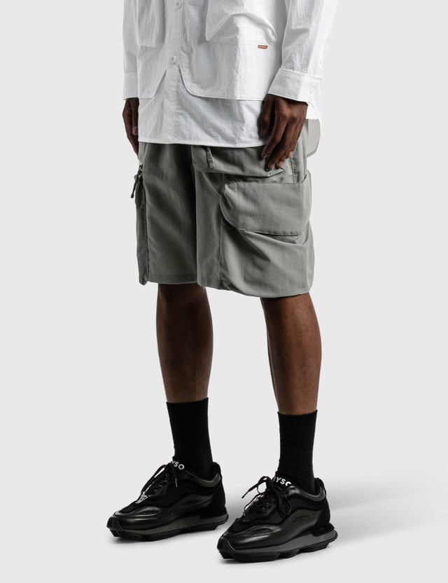 "GOOPiMADE ""DP-3"" Multi-Pocket Utility Shorts Grey Men"