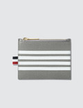Thom Browne Pebble Grain and Calf Leather Small Coin Purse (14.5 cm) with Contrast 4 Bar Stripe Picutre