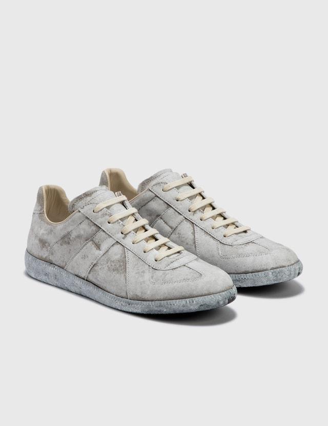Maison Margiela Replica Low Top Sneakers Grey/white Paint Men