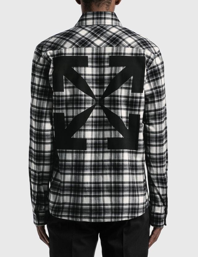 Off-White Arrow Check Flannel Shirt Black Men