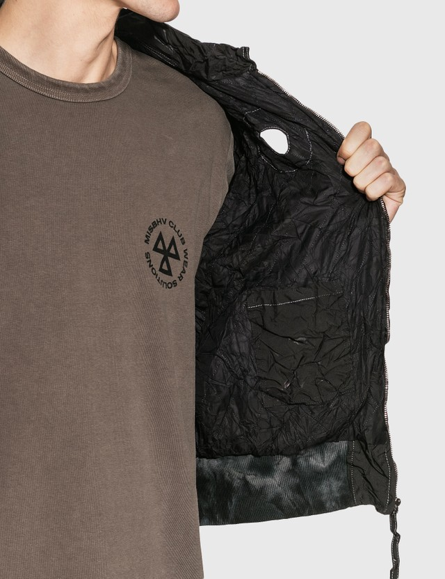 KANGHYUK Readymade 에어백 쉬링크 봄버 재킷 Black Men