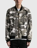 Fostex Garments Vintage Wash Camo Bomber Jacket Picture