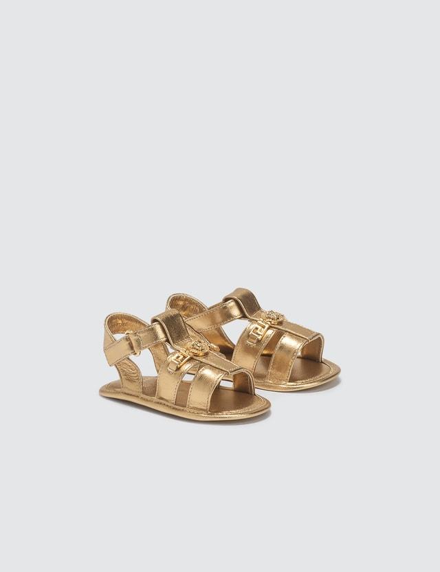 Versace Medusa Laminated Sandals (Toddler)