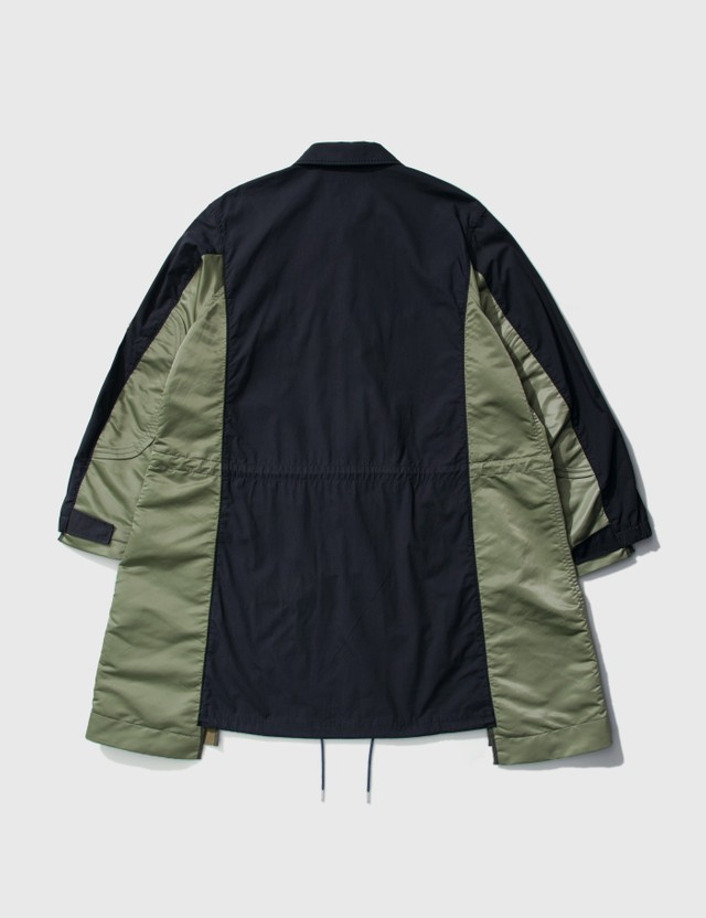 Sacai Military Coat Navy X Khaki Men