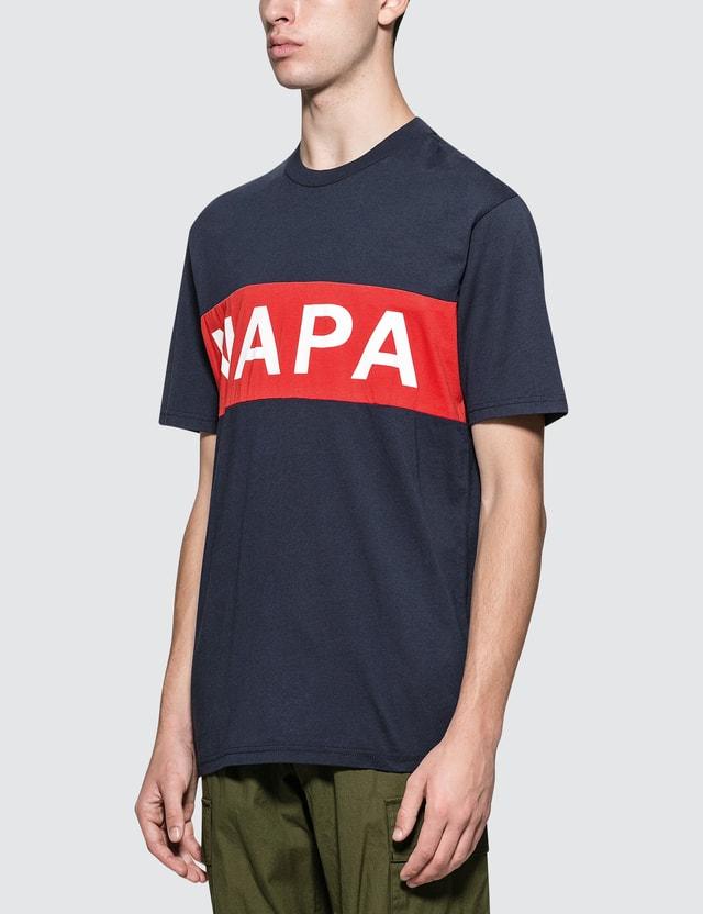 Napapijri Silver Banner Logo S/S T-Shirt Blue Men