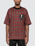 Mastermind World Tartan Check Logo Print T-Shirt Picture