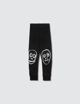 NUNUNU Skull Mask Patch Leggings