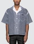 Prada Stencil Check Poplin Bowling Shirt 사진