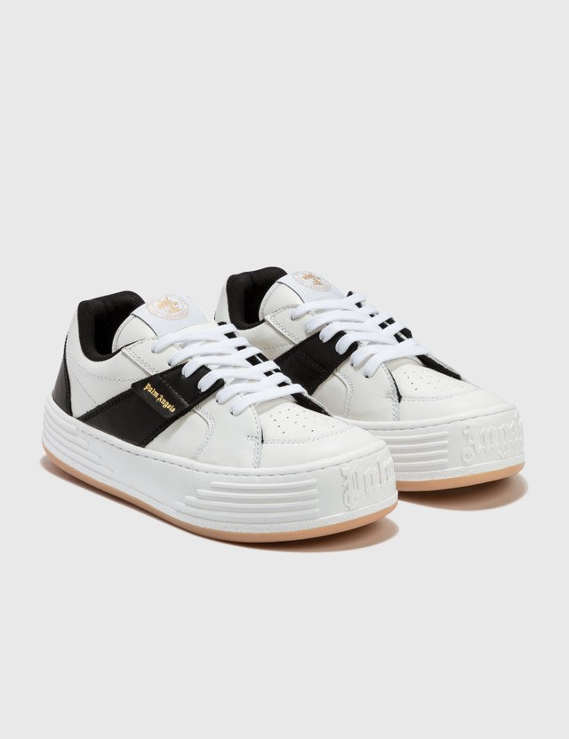 Palm Angels Leather Snow Low Top Sneakers White Men