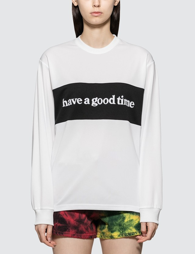 Have A Good Time Panel Jersey Long Sleeve T-shirt