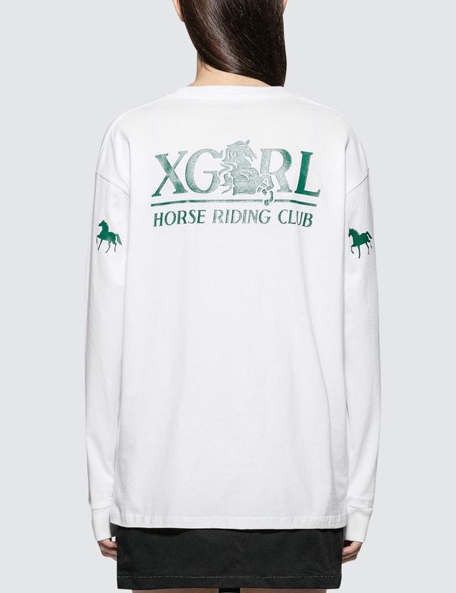X-Girl Riding Club Long Sleeve Big Tee
