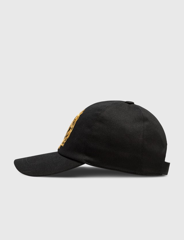 Versace Medusa Crest Embroidered Cap