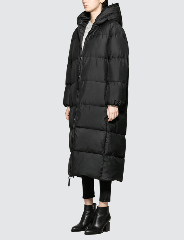 Katharine Hamnett Duvetica X Katharine Hamnett Full Length Oversised Puffa Coat With Love Slogan