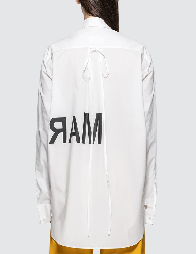 MM6 Maison Margiela Print Logo Oversized Shirt
