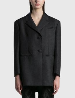 Ganni Wool Suiting Oversized Blazer