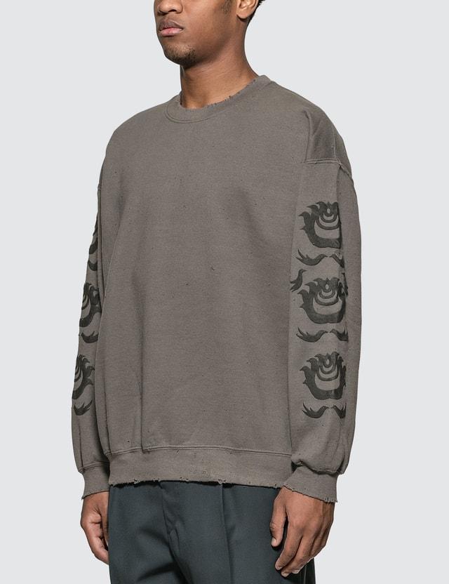 "Sasquatchfabrix. Oriental ""orb"" Print Sweatshirt"