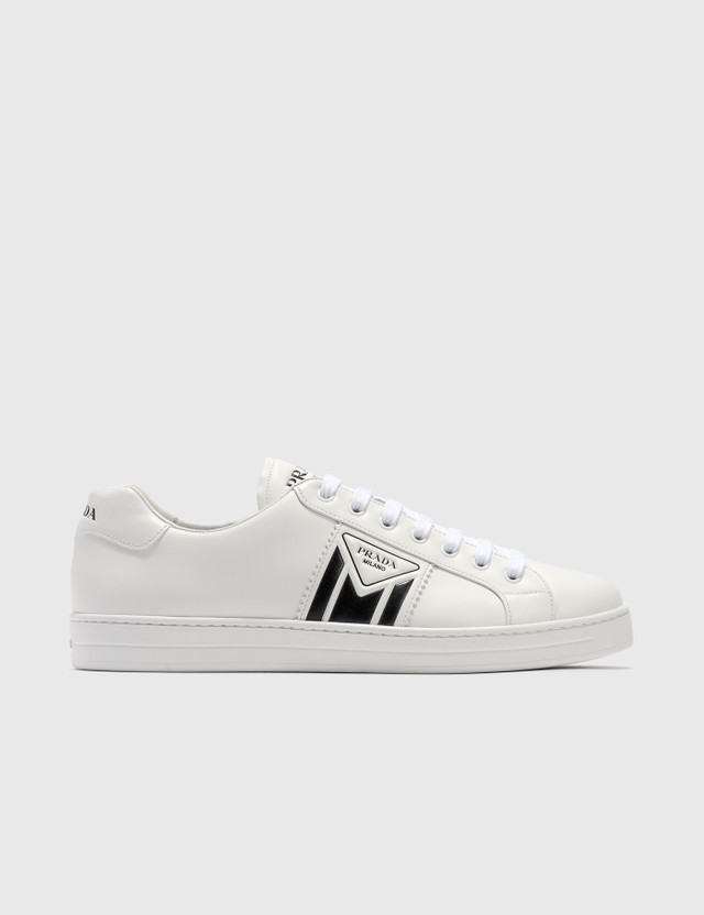 Prada New Avenue Leather Sneakers White/black Men