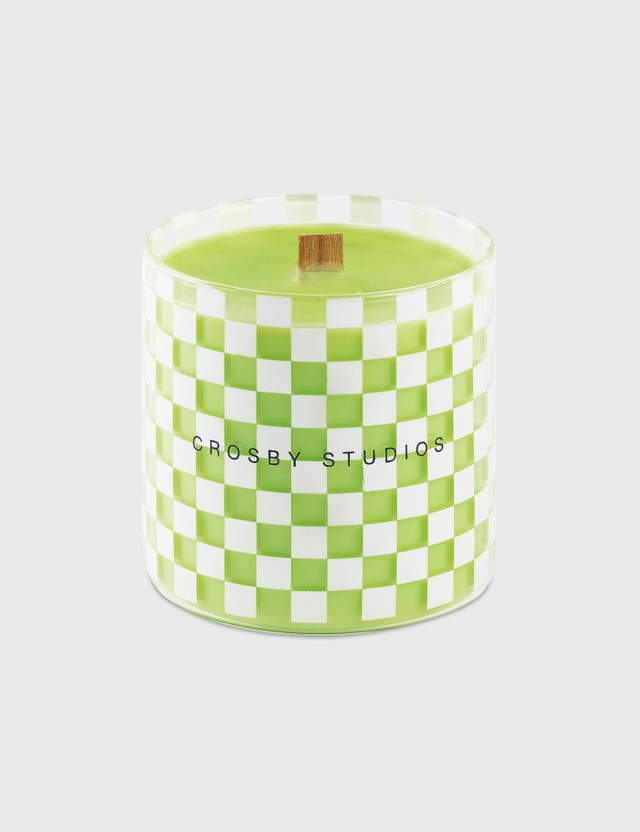 Crosby Studios Green Candle Collection Checkers Green Unisex