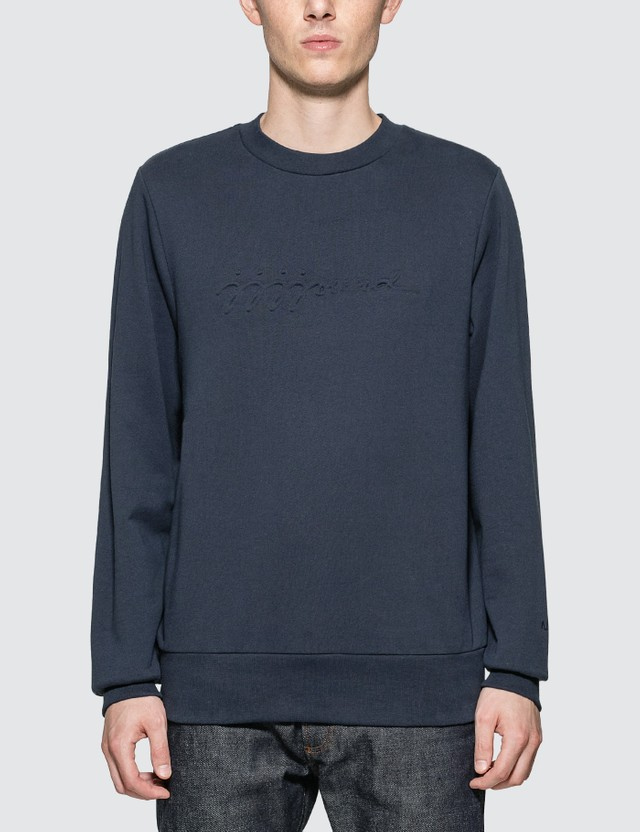 A.P.C. A.P.C. x JJJJound Justin Sweatshirt Iak Dark Navy Men