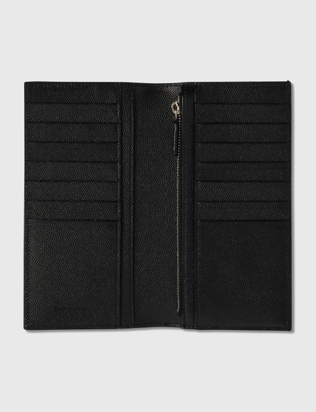 Saint Laurent Grain Leather Continental Wallet Nero Men