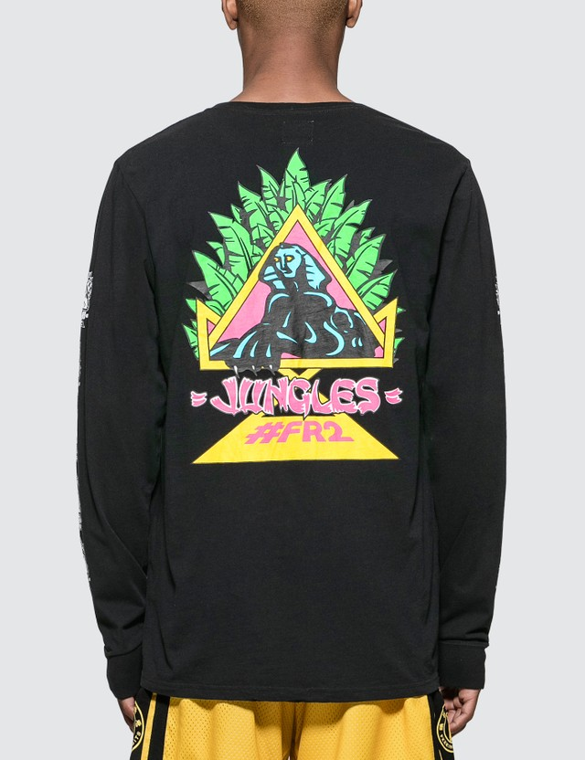 #FR2 #FR2 x Jungles Natas Sphinx L/S T-Shirt Black Men