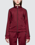 Alexander Wang.T Sleek French Terry Full-Zip Shrunken Track Jacket Picutre