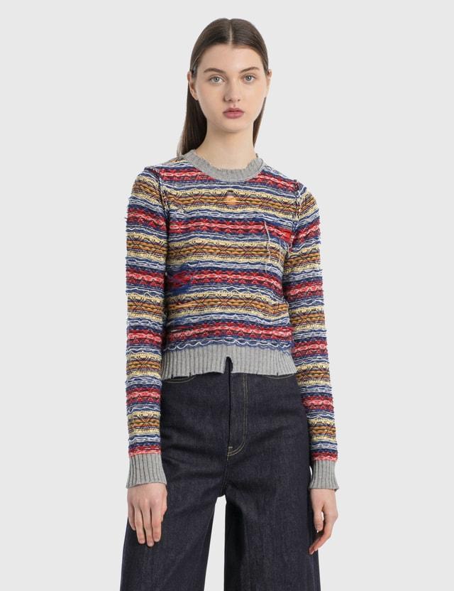 Maison Margiela Reverse Fair Isle Sweater Multicolor Women