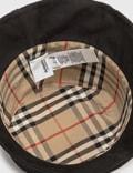 Burberry Reversible Logo Print Cotton Gabardine Bucket Hat Black Women