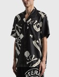 Mastermind Japan Tropical Skull Silk Short Sleeve Shirt Black (tropical) Men