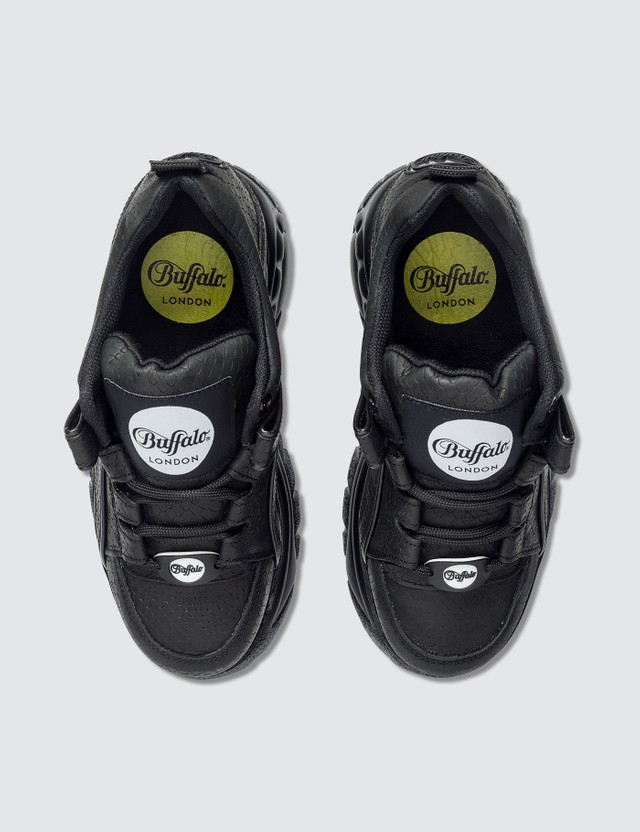 Buffalo London Snake Embossed Low Top Platform Sneakers