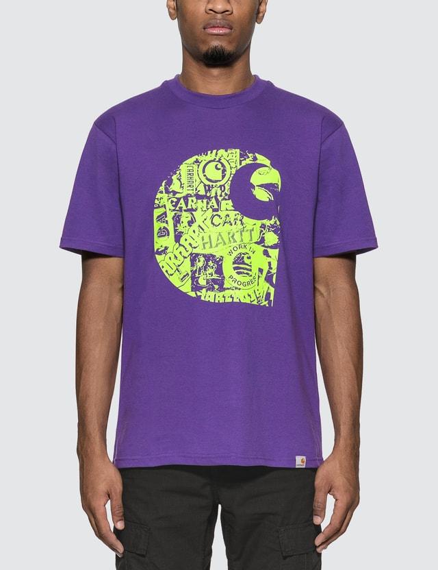 Carhartt Work In Progress Collage C T-Shirt Snape Purple / Lime Men