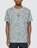 Stone Island Big Loom Camo T-shirt With Logo In Front (grey) 사진
