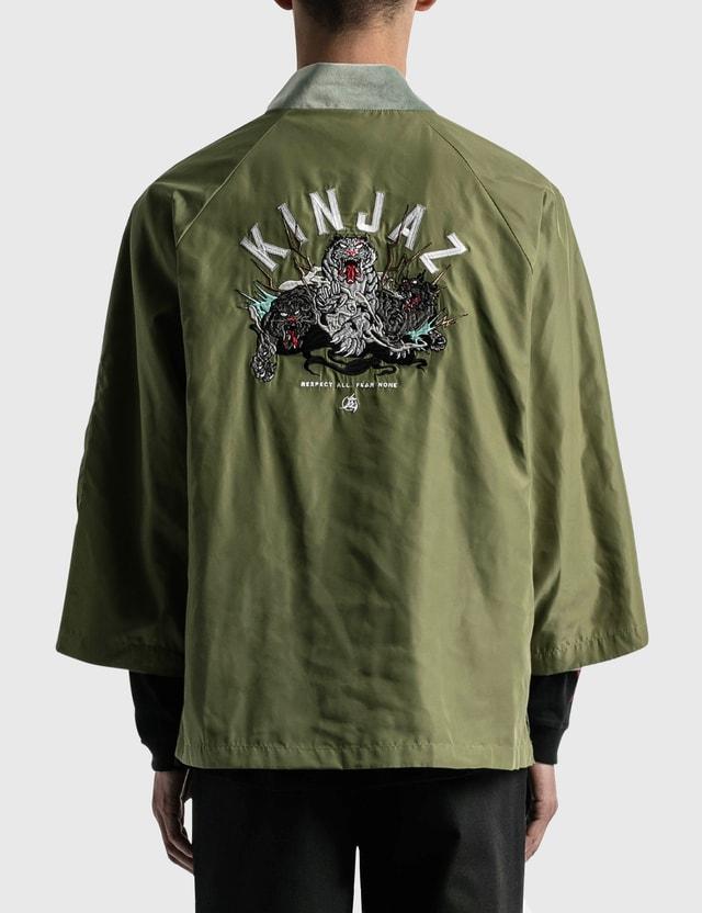 Kinjaz Vanquish X Kinjaz Kimono Jacket Olive Men