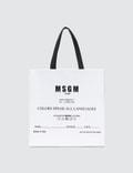 MSGM Msgm Logo Tote Bag Picture