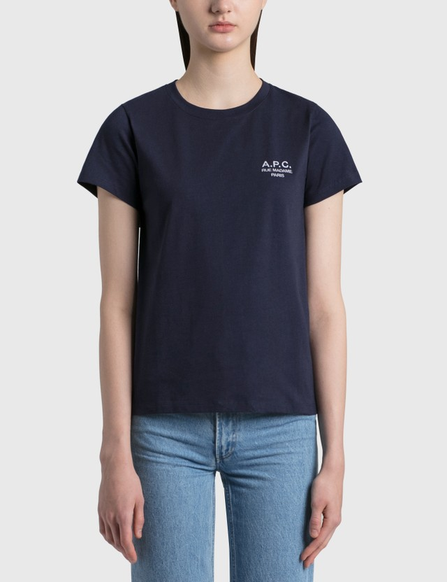 A.P.C. Denise Logo T-shirt Iak Dark Navy Women