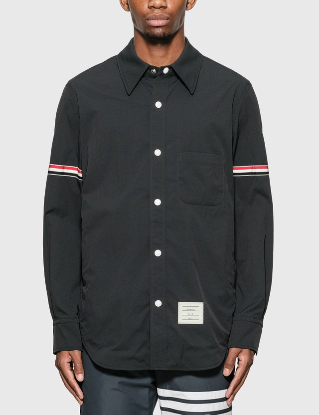 Thom Browne Grosgrain Arm Band Shirt Jacket