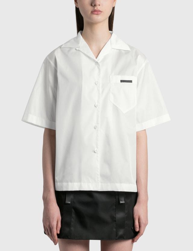 Prada Re-Nylon Gabardine Shirt Bianco Women