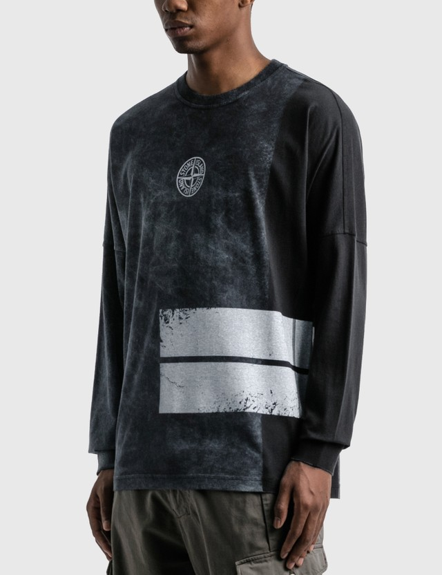 Stone Island Dust One Logo Long Sleeve T-Shirt Nero Men