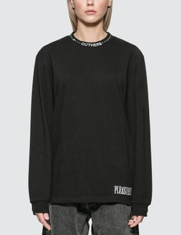 Pleasures Cut Here Heavyweight Long Sleeve T-shirt