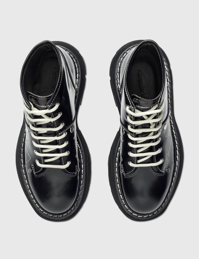 Alexander McQueen Tread Lace Up Boot Black Women