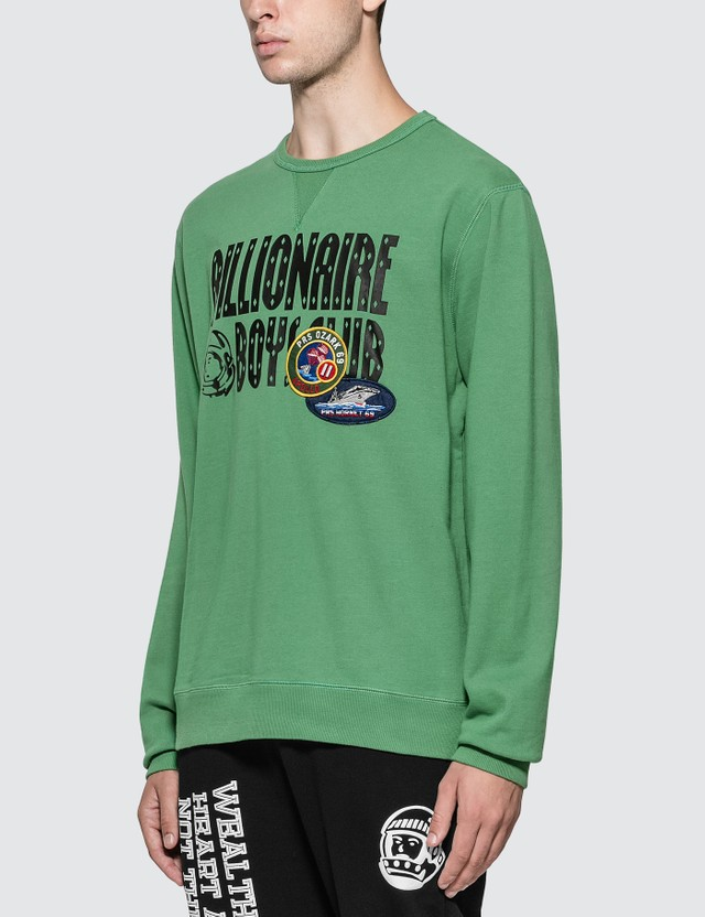 Billionaire Boys Club Decorated Logo Crewneck Sweatshirt
