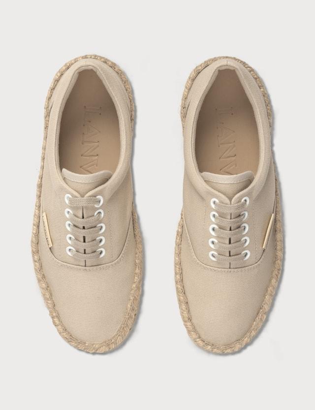 Lanvin Espadrille Sneakers Ecru Women