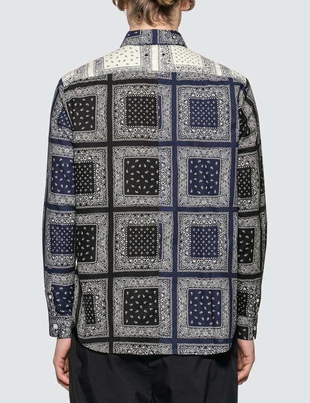 SOPHNET. Paisley Print Bandana Shirt
