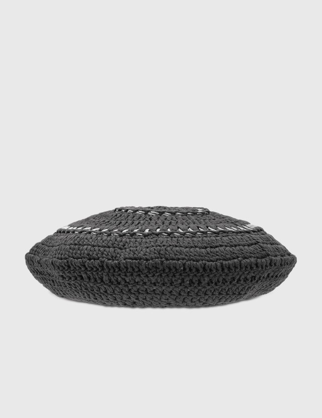 Ganni Cotton Knit Beret Phantom Women