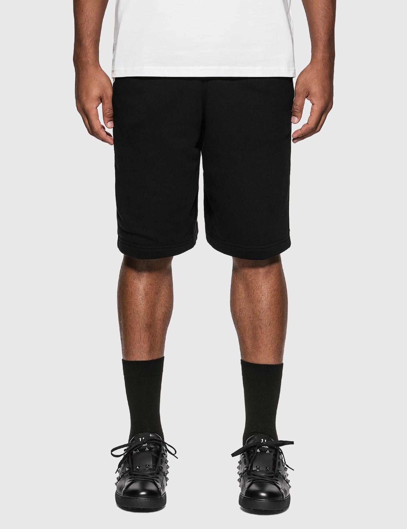 Logo Print Cotton Drawcord Shorts